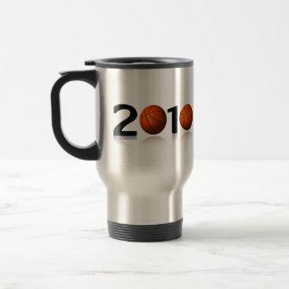 Basketball 2010 15 oz stainless steel travel mug