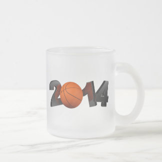 Basketball 2014 frosted glass coffee mug