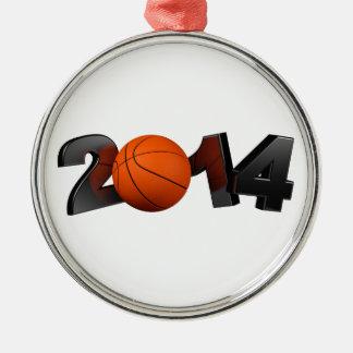 Basketball 2014 metal ornament