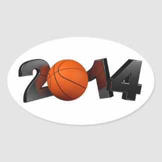 Basketball 2014 oval sticker