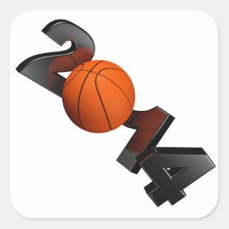 Basketball 2014 square sticker