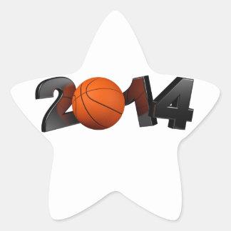 Basketball 2014 star sticker