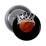 Basketball 2 Inch Round Button