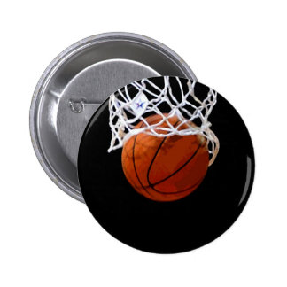 Basketball 2 Inch Round Button