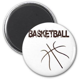 Basketball 2 Inch Round Magnet