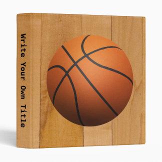Basketball 3D Effect 3 Ring Binders