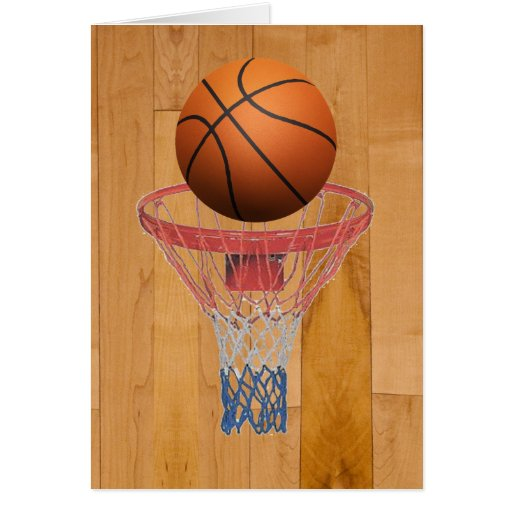 Basketball - 3D Effect Greeting Cards