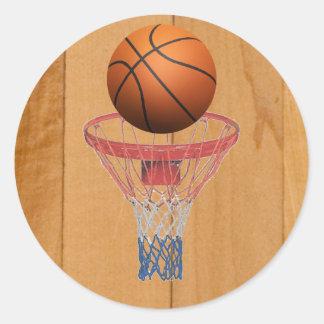 Basketball - 3D Effect Classic Round Sticker