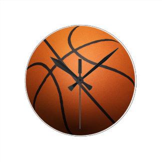 Basketball - 3D Effect Round Wallclocks