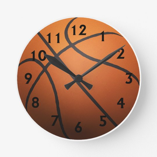 Basketball - 3D Effect Round Clock