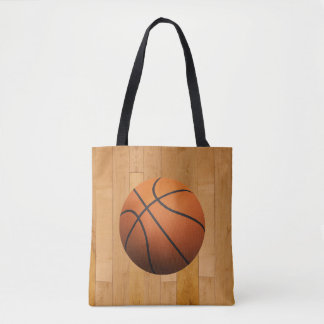 Basketball 3D Effect Tote Bag