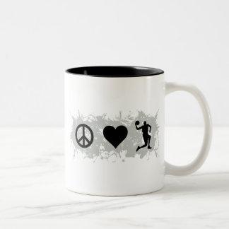 Basketball 4 Two-Tone coffee mug
