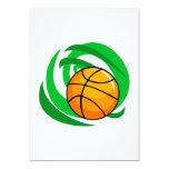 "Basketball 5"" X 7"" Invitation Card"