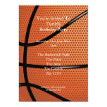 Basketball 5x7 Paper Invitation Card