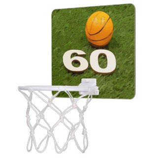 Basketball 60th Birthday Mini Basketball Hoop