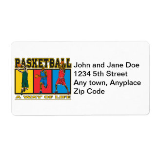 Basketball A Way of Life Custom Shipping Labels