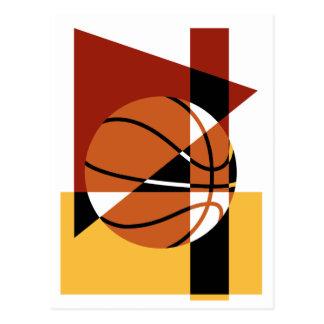 Basketball Abstract Postcard