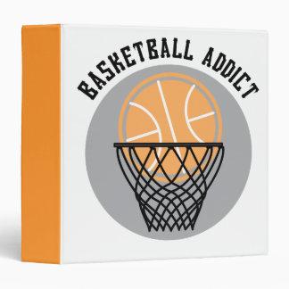 Basketball Addict 3 Ring Binder