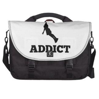 Basketball Addict Laptop Bags