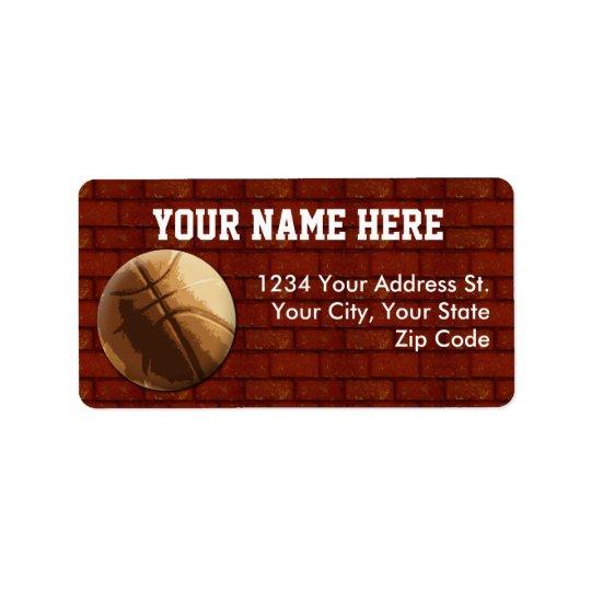 Basketball Address Labels