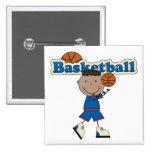 Basketball, African American Boy Button