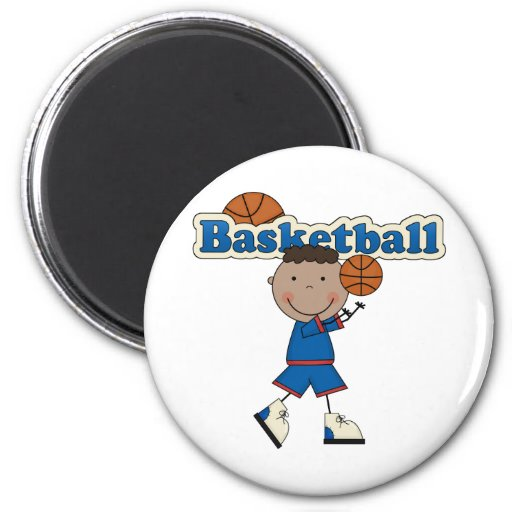 Basketball, African American Boy Magnets