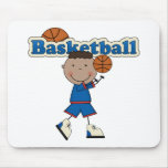 Basketball, African American Boy Mouse Pad