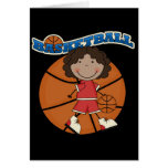 BASKETBALL African American Girl T-shirts and Gift Cards