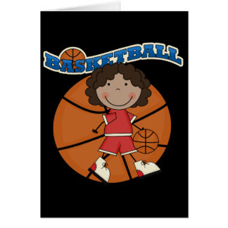 BASKETBALL African American Girl T-shirts and Gift Card
