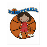 BASKETBALL African American Girl T-shirts and Gift Postcard