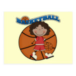 BASKETBALL African American Girl T-shirts and Gift Postcards