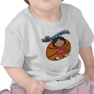 BASKETBALL African American Girl T-shirts and Gift