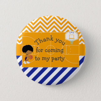 Basketball African American 'Thank you for coming' Button