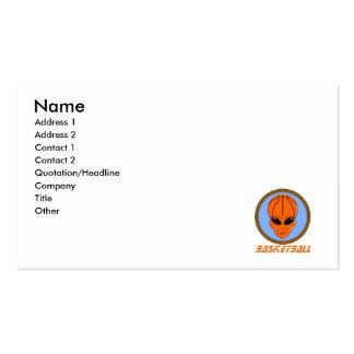 Basketball Alien Business Card