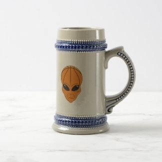 basketball alien head beer stein