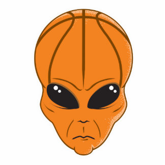 basketball alien head cutout