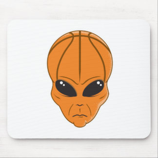 basketball alien head mouse pads