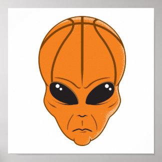 basketball alien head poster