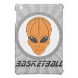 basketball alien head with text iPad mini case