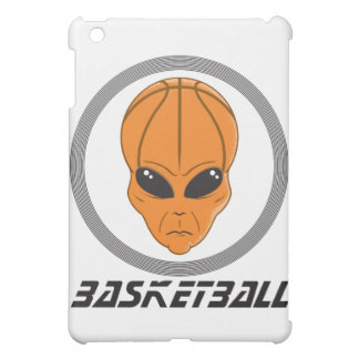 basketball alien head with text iPad mini cases