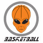 basketball alien head with text photo cutouts