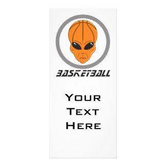 basketball alien head with text rack card