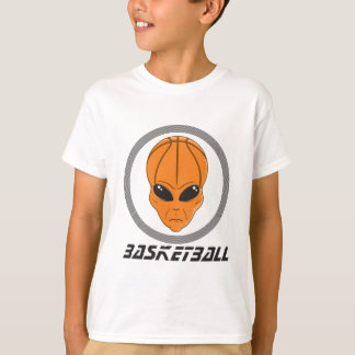 basketball alien head with text T-Shirt