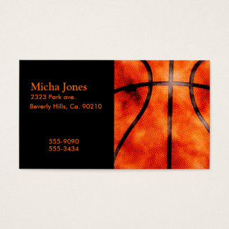 Basketball All Day Grunge Style Business Card