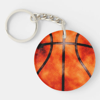 Basketball All Day Grunge Style Double-Sided Round Acrylic Keychain
