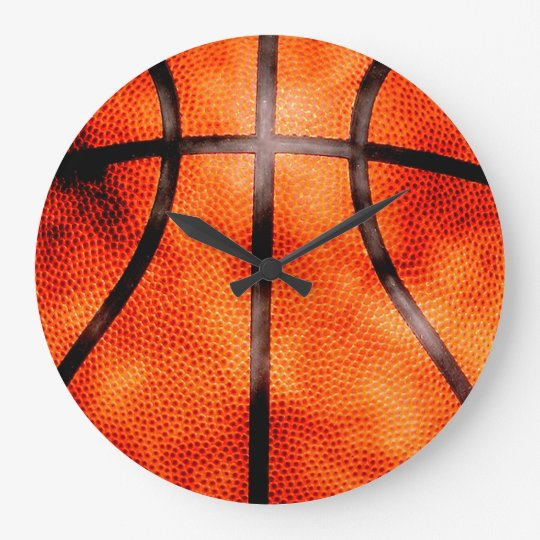 Basketball All Day Grunge Style Large Clock