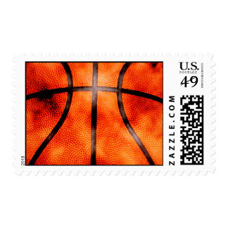Basketball All Day Grunge Style Postage