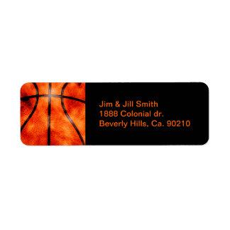 Basketball All Day Grunge Style Return Address Label