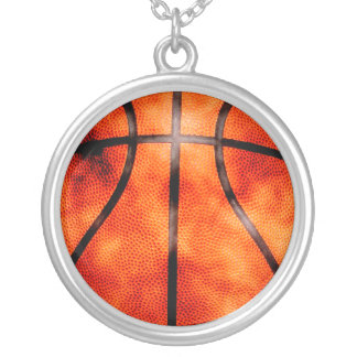 Basketball All Day Grunge Style Silver Plated Necklace