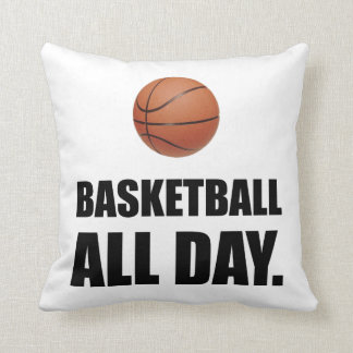 Basketball All Day Throw Pillow